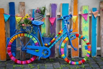 Hæklet cykel, Guldborgsund Frivilligcenter