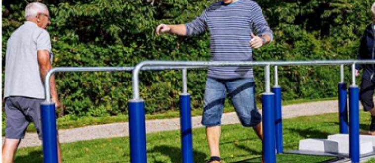 Træning i det fri med Lungeforeningen – se billederne